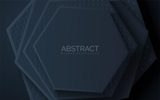 Forme hexagonale superposée abstraite s.