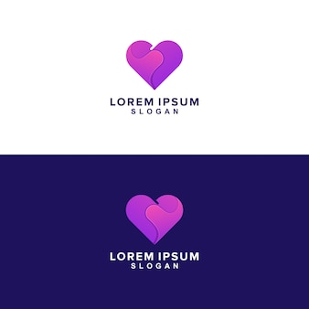 Forme de logo de coeur