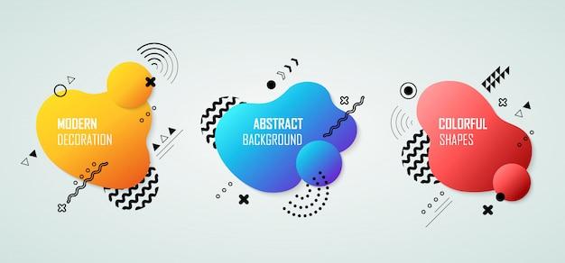 Forme moderne abstraite colorée pour un design moderne