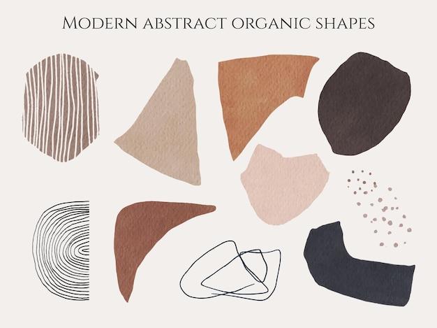 Forme moderne abstraite contemporaine du milieu du siècle papier découpé organique acrylique