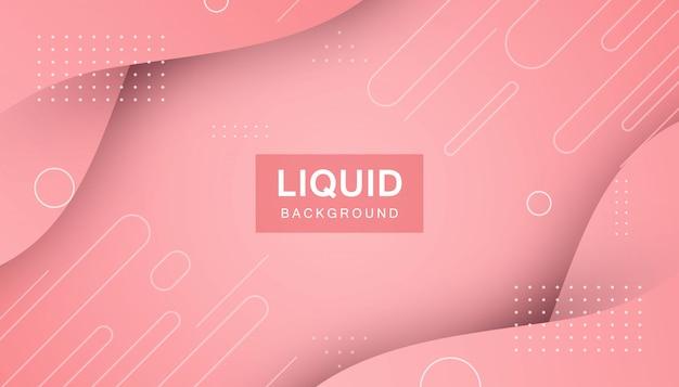 Forme moderne de fond liquide abstrait rose