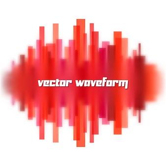 Forme d'onde floue faite de lignes