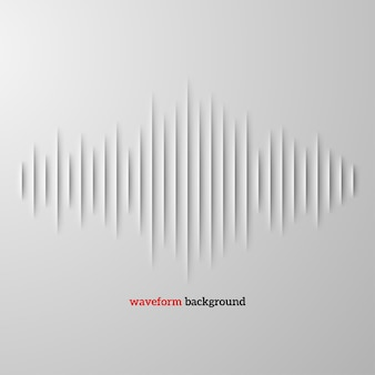 Forme d'onde sonore en papier avec ombre