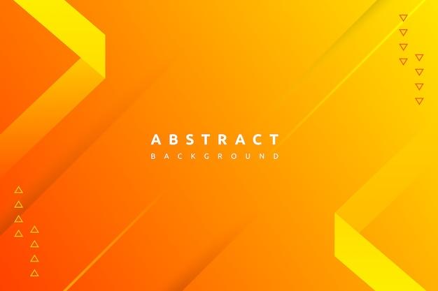 Forme orange minimale abstraite avec fond dégradé coloré