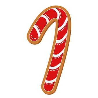 Forme de pain d'épice de nouvel an pour la conception de bannièresymbole de vacances traditionnelcuisiner des alimentsnourriture sucrée