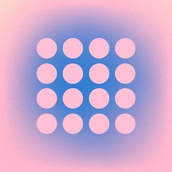 Forme de points roses abstraits en funky