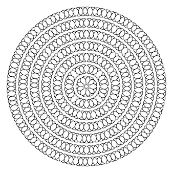 Forme ronde avec des points de cercle modèle pour l'élément de conception de cadres de bordures