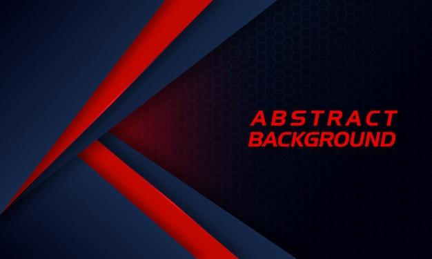 Forme rouge abstraite sur fond sombre