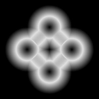 Forme de technologie abstraite blanche avec fond brillant et noir pour les concepts de conception de logo