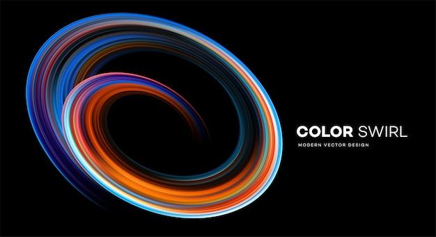 Forme de tourbillon lumineux de couleur