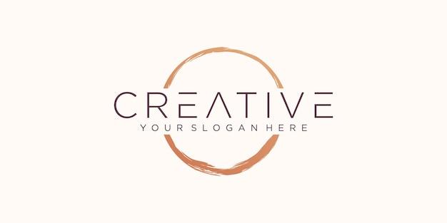 Forme de vecteur d'anneau de tache de café - timbres de cercle - coup de pinceau rond - icône, création de logo.