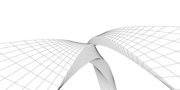 Formes abstraites architecturales, arc d'architecture abstraite