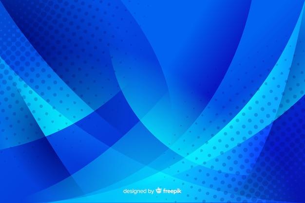Formes abstraites de bleu avec des points
