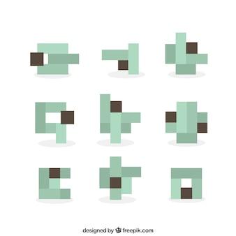 Formes abstraites composées de pixels