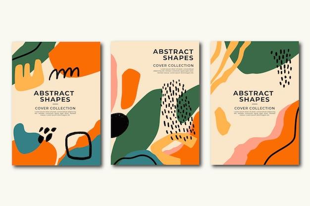 Les formes abstraites dessinées à la main couvrent la conception
