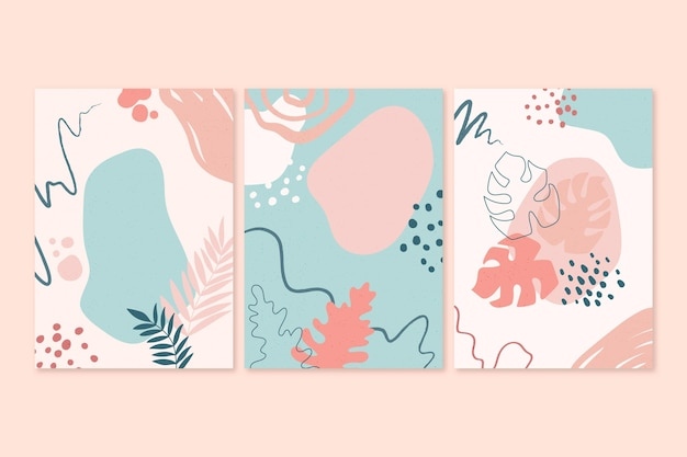 Les formes abstraites dessinées à la main couvrent le thème