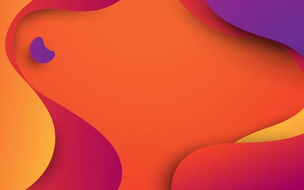 Formes abstraites fluides colorés. thème de l'été.