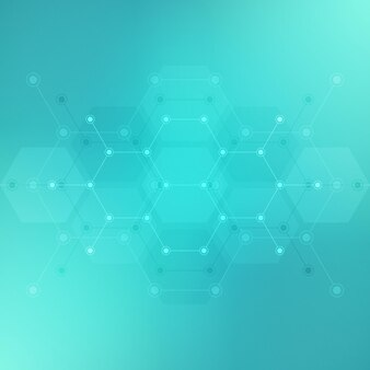 Formes abstraites d'hexagones.