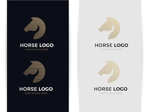 Formes abstraites de logo de cheval