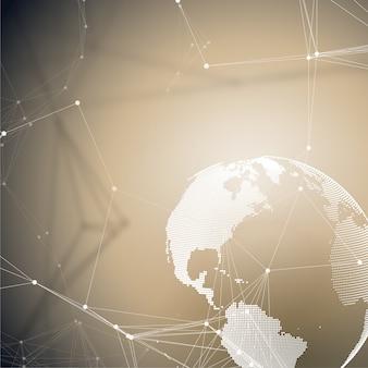 Formes abstraites de réseau futuriste.