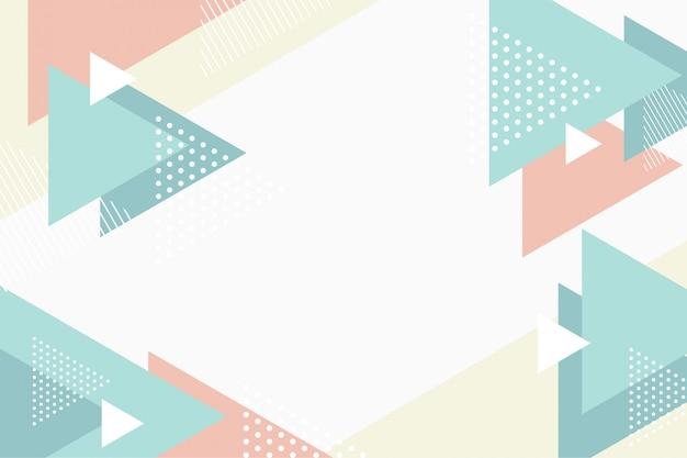 Formes abstraites de triangle plat