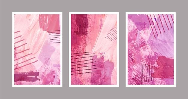 Formes aquarelles abstraites - couvertures