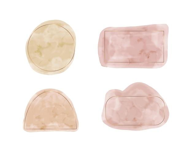Formes aquarelles beiges et roses pour les invitations de bannières de médias sociaux
