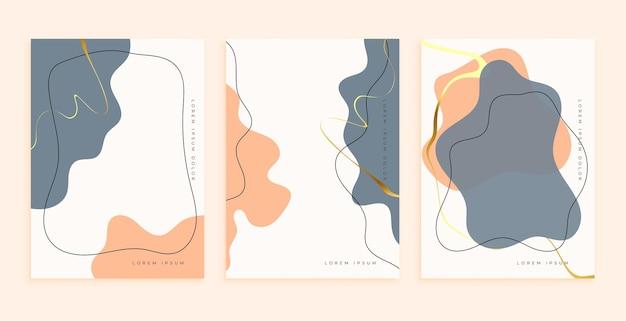 Formes d'art abstraites dessinées à la main pour la décoration murale