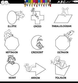 Formes de base éducatives set de couleur book