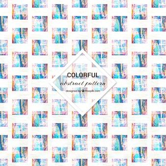 Formes carrées de motif coloré