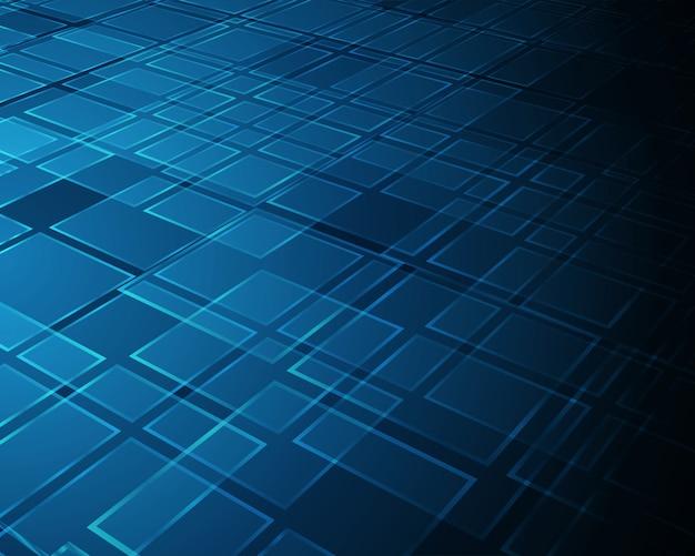 Formes de carrés 3d espace abstrait réalité virtuelle 3d