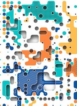 Formes de cercle géométrique dynamique de promotion de modèle abstrait sans couture. modèle pour la conception de la couverture, affiche, bannière, carte, salutation, entreprise, décoration.