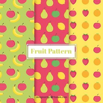 Formes de couleurs des fruits
