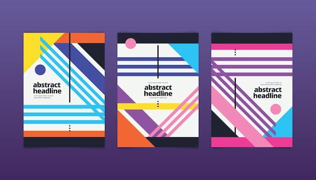 Formes de couvertures abstraites avec des formes géométriques
