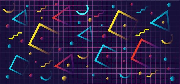 Formes de dégradé géométrique dans un style rétro