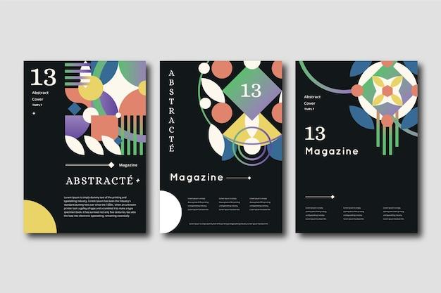 Formes dégradées avec couvercle design géométrique coloré