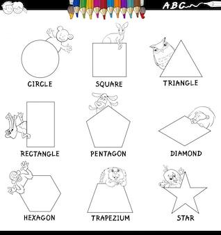 Formes éducatives avec le livre de couleur des animaux