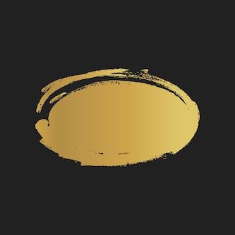 Formes d'ellipse peintes vintage grunge doré. illustration vectorielle.