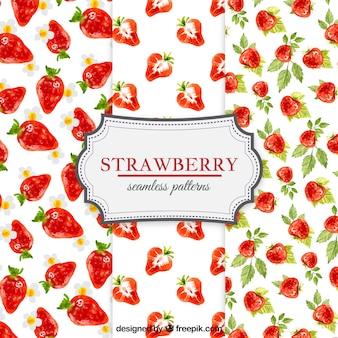 Formes de fraises d'aquarelle