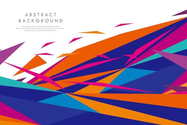 Formes géométriques abstraites colorées créatives
