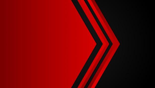 Formes géométriques abstraites lumière rouge sur fond noir de sport