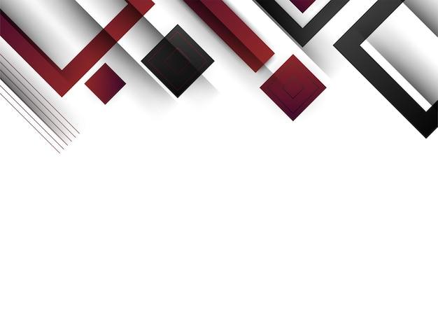 Formes géométriques abstraites noires rouges sur fond blanc. convient pour l'arrière-plan de présentation, la bannière, la page de destination web, l'interface utilisateur, l'application mobile, la conception éditoriale, le dépliant, la bannière et toute autre occasion connexe