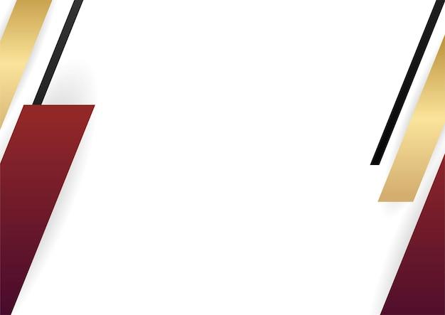 Formes géométriques abstraites en or rouge sur fond blanc. convient pour l'arrière-plan de présentation, la bannière, la page de destination web, l'interface utilisateur, l'application mobile, la conception éditoriale, le dépliant, la bannière et toute autre occasion connexe