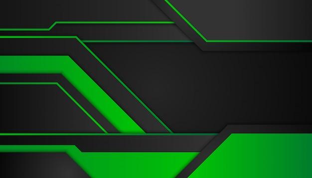 Formes géométriques abstraites verts sur noir