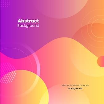 Formes géométriques colorées abstraites et fond carré de vagues