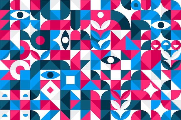 Formes géométriques colorées abstraites