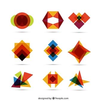 Formes géométriques colorées