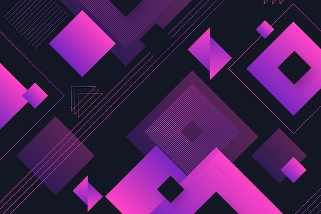Formes géométriques dégradées sur fond sombre