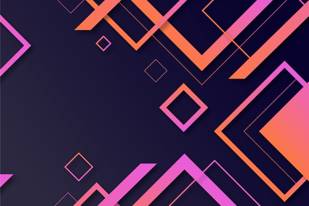 Formes géométriques dégradées sur papier peint foncé