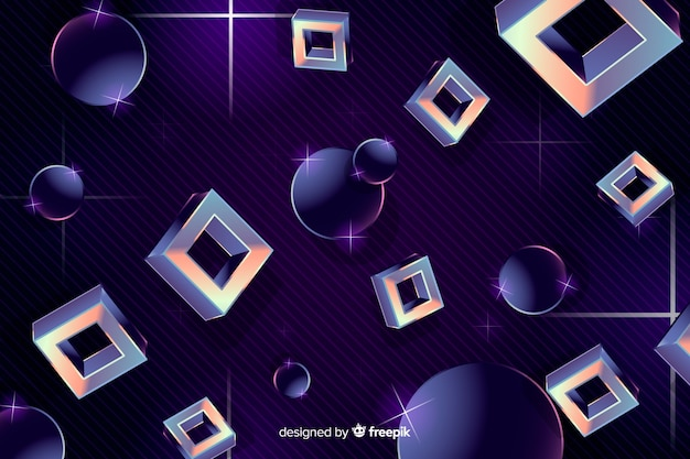 Formes géométriques fond années quatre-vingt style